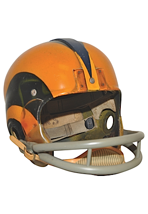 Early-To-Mid 1950s Tom Fears Los Angeles Rams Game-Used Suspension Helmet (Originally Sourced From Marinovich Family)