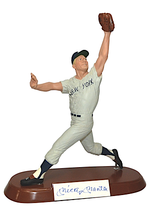 "Mickey Mantle Limited Edition Autographed Salvino Collection ""Fielding"" Figurine (JSA • Salvino COA • New Old Stock)"