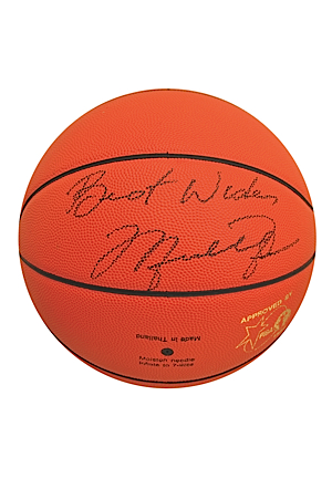 1992 Barcelona Olympics Molten Official Game Basketball Autographed By Michael Jordan (JSA • Molten LOA)