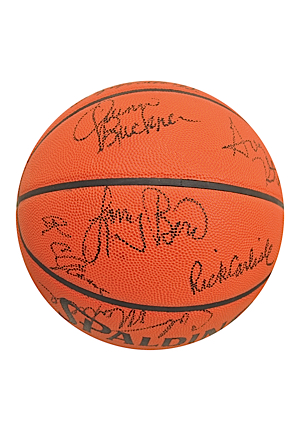 1984-85 Boston Celtics Team-Signed Basketball Including Larry Bird (JSA • NBA Finals Season)