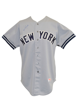 1980 Rick Cerone New York Yankees Game-Used & Autographed Road Jersey (JSA)