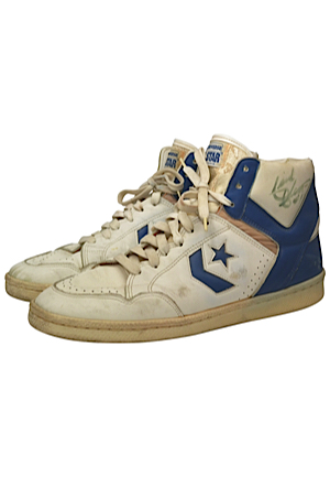 Mid 1980s Isiah Thomas Detroit Pistons Game-Used & Autographed Sneakers (JSA • Ball Boy LOA)
