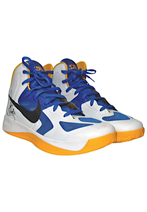 2012-13 Stephen Curry Golden State Warriors Game-Used & Autographed Sneakers (JSA • Ball Boy LOA)