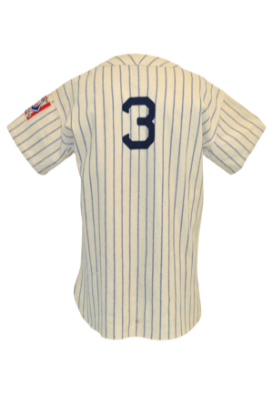 1939 George Selkirk New York Yankees Game-Used Pinstriped Home Flannel Jersey (Babe Ruths Iconic NY No. 3 • Championship Season)