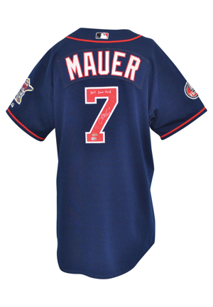 2007 Joe Mauer Minnesota Twins Game-Used & Autographed Home Jersey (JSA • MLB Hologram)