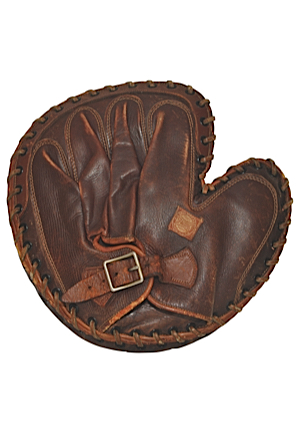 "Early 1900s Spalding ""Three and Out"" Catchers Mitt"