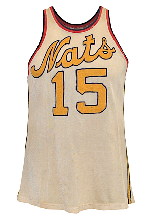 1952-53 Al Cervi Syracuse Nationals Game-Used Home Durene Jersey (Fantastic Condition • Very Rare • Final Season as Player-Coach • Only Known Cervi Jersey)