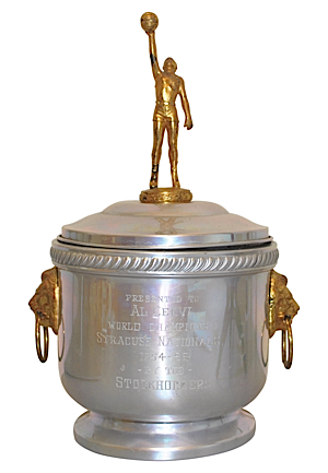 "1954-55 Al Cervi Syracuse Nationals NBA World Championship ""Trophy"" Head Coachs Ice Bucket (Exceedingly Rare • Sourced From The Family)"
