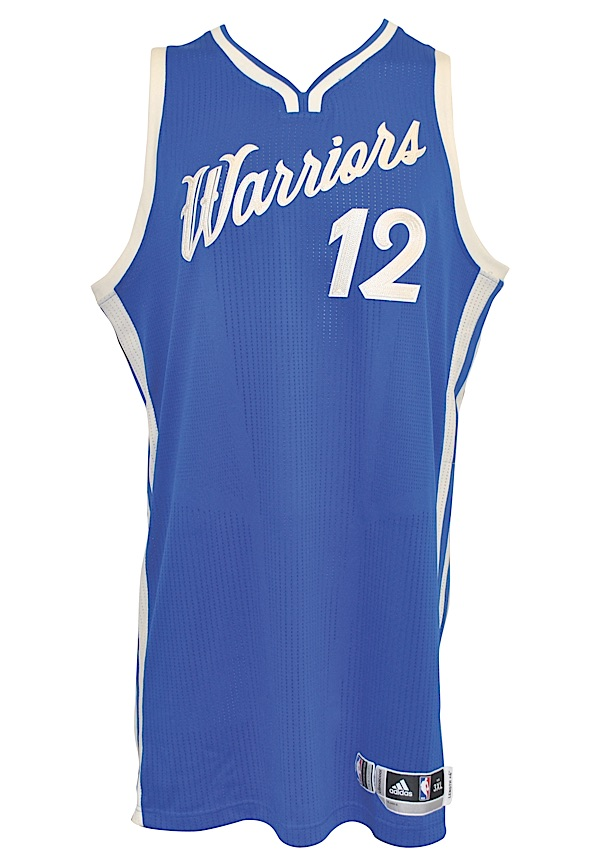 Lot Detail - 12 25 2015 Andrew Bogut Golden State Warriors Game-Used ... f46595394