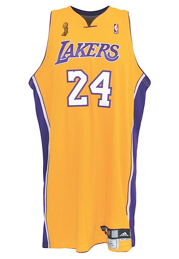 f277d03ff72e Lot Detail - 2008 Kobe Bryant Los Angeles Lakers NBA Finals Game ...