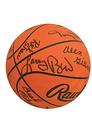1979 Indiana State Team-Signed NCAA Tournament Basketball Including Larry Bird (JSA)