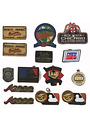 Brooks Robinson Personal Collection Of Assorted Pins & Pendants (15)(Robinson LOA)