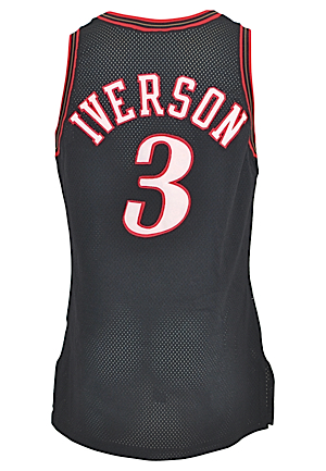 1998-99 Allen Iverson Philadelphia 76ers Game-Used Road Jersey
