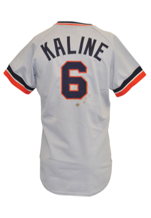 1974 Al Kaline Detroit Tigers Game-Used Road Jersey (Final Season)