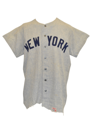 1969 Bobby Murcer New York Yankees Game-Used Road Flannel Jersey (Rare)