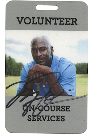 Michael Jordans Personal Autographed Volunteer Pass To The Michael Jordan Celebrity Invitational (Full JSA LOA)