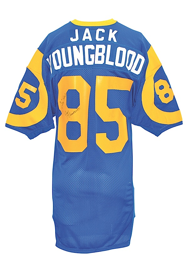 Lot Detail - Early 1980s Jack Youngblood Los Angeles Rams Game ...
