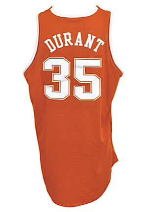 2006-07 Kevin Durant Texas Longhorns Game-Used & Autographed Road Jersey (Full JSA LOA • Sourced Directly From Durant • National College PoY)