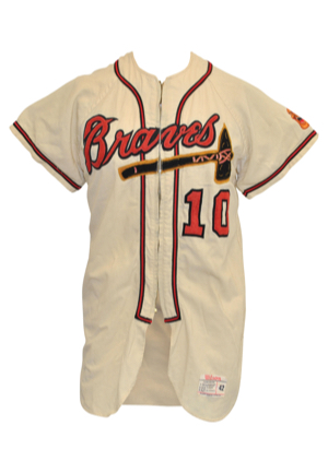 1962 Bob Buhl Milwaukee Braves Game-Used & Autographed Home Flannel Jersey (JSA)