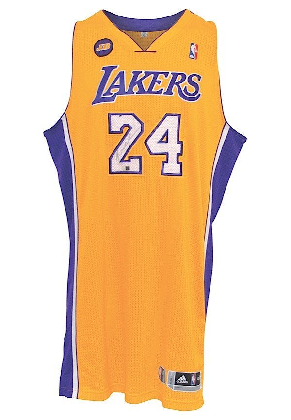 c06e6e23049 A game-used jersey Lot Detail - 422013 Kobe Bryant Los Angeles Lakers  Game-Used ...