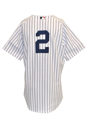 2006 Derek Jeter New York Yankees Game-Used Pinstripe Home Jersey (Steiner Sports LOA • Career High Batting Average • Gold Glove Award • Second In AL MVP)