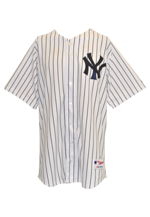 2015 Gary Sanchez Pre-Rookie New York Yankees Surprise Saguaros Arizona Fall League Game-Used Pinstripe Home Jersey (MLB Hologram)
