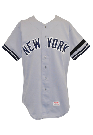 1981 Yogi Berra New York Yankees Coaches-Worn Road Uniform (2)