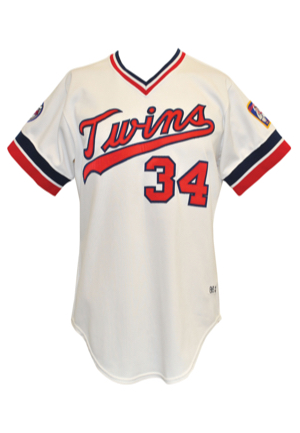 1986 Kirby Puckett Minnesota Twins Game-Used Home Jersey (Rare Early Career Example • Glove Glove Award & Silver Slugger Season)
