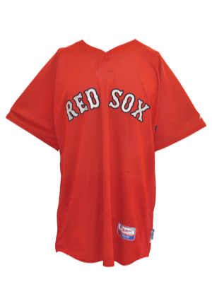 Kevin Youkilis Game-Used Items — 2004-08 Boston Red Sox Bat, 2003 Portland Sea Dogs Batting Practice Jersey & 2007 Boston Red Sox Team-Issued Jersey (3)(MLB Hologram • Steiner Sports Hologram •...