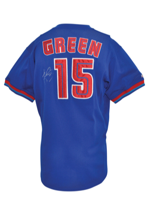 Mid 1990s Shawn Green Toronto Blue Jays Batting Practice & Autographed Mesh Jersey (JSA)
