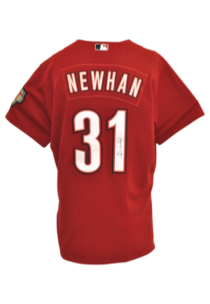 David Newhan Game-Used & Autographed Items — 2008 Houston Astros Road Jersey & 2007 New York Mets Home Pants (2)(JSA)