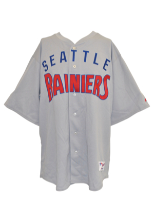 6/25/2005 Jeff Newman Seattle Mariners Coaches-Worn & Autographed PCL Throwback Uniform With Stirrups (4)(JSA • MLB Hologram)