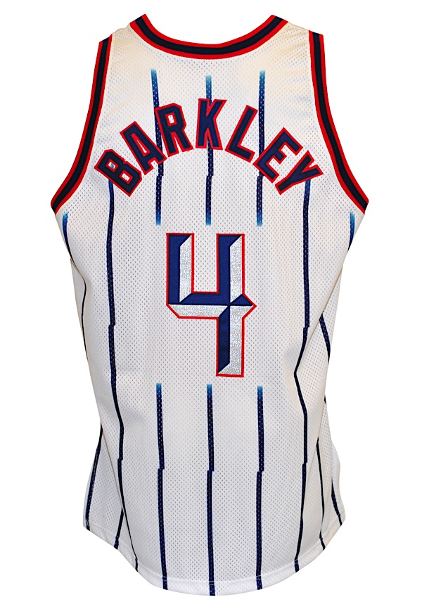 various colors ce0a7 15ae6 Lot Detail - 1996-97 Charles Barkley Houston Rockets Game ...