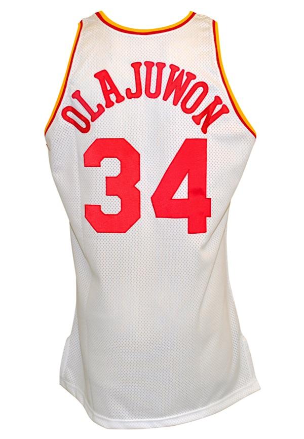 best authentic 6b92b e8ad0 Lot Detail - 1994-95 Hakeem Olajuwon Houston Rockets Game ...