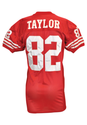 1994 John Taylor San Francisco 49ers Game-Used Home Jersey