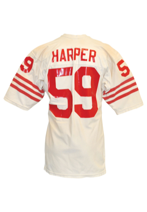 Late 1970s Willie Harper San Francisco 49ers Game-Used Road Jersey
