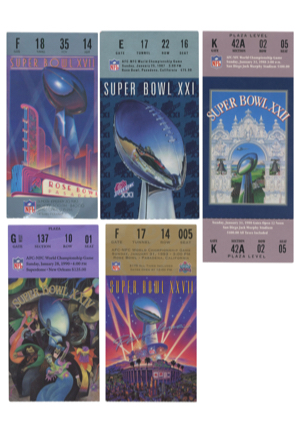 Collection Of Super Bowl Tickets & Ticket Stubs (10)