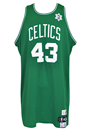 12/25/2008 Kendrick Perkins Boston Celtics Christmas Day Game-Used Road Jersey (NBA LOA)
