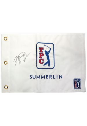 2008 PGA Tour TPC At Summerlin Golf Flag Signed By Michael Jordan (JSA • PSA/DNA)