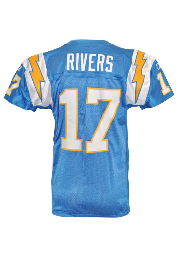 outlet store 48dc6 9f540 Lot Detail - 2009 Philip Rivers San Diego Chargers Game-Used ...
