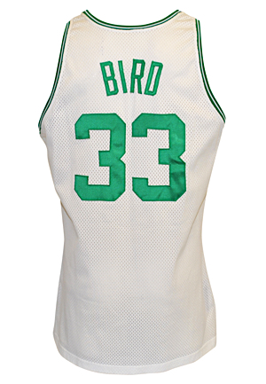 1991-92 Larry Bird Boston Celtics Game-Used Home Jersey (Final Season)