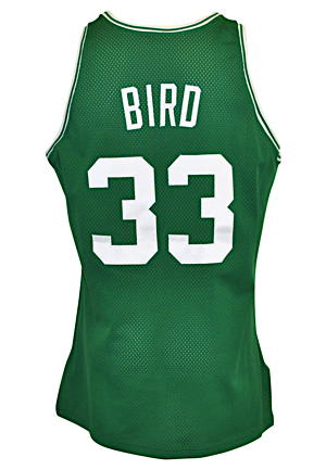 1991-92 Larry Bird Boston Celtics Game-Used & Autographed Road Jersey (JSA • Final Season)
