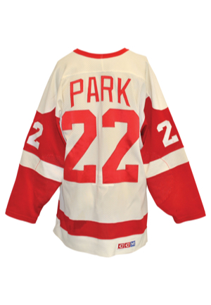 Early 1980s Brad Park Detroit Red Wings Team-Issued Home Jersey