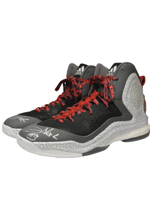 Chicago Bulls Game-Used & Autographed Sneakers — 2009-10 Luol Deng & 2015 NBA Playoffs Joakim Noah (2)(JSA)