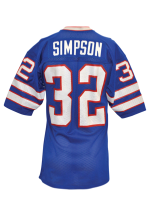Circa 1976 O.J. Simpson Buffalo Bills Game-Used Home Jersey (Vintage Photo Documentation)