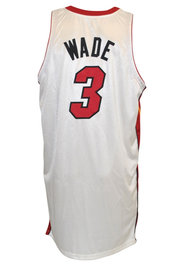 9c3445937f0 Lot Detail - 2008-09 Dwyane Wade Miami Heat Game-Used Home Jersey ...