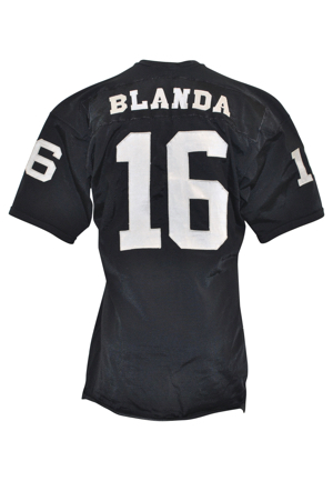 Circa 1969-70 George Blanda Oakland Raiders Game-Used Home Jersey (Rare Example • Graded A10)