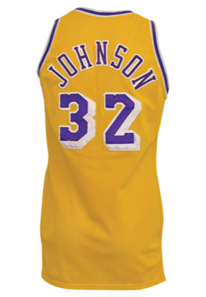 "1987-88 Earvin ""Magic"" Johnson Los Angeles Lakers Game-Used Home Jersey (Championship Season)"