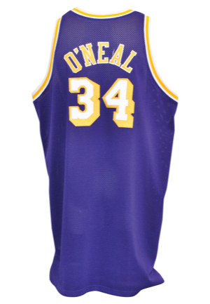 1997-98 Shaquille ONeal Los Angeles Lakers Game-Used Road Jersey