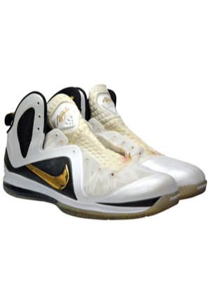 2012 LeBron James Miami Heat Game-Used Sneakers